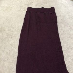 Long ribbed skirt